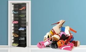 6.990 Ft helyett 3.490 Ft: Ajtóra szerelhető, felakasztható tároló 26 pár cipőnek