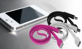 1.590 Ft helyett 990 Ft: 1 méteres utángyártott lapos adat és töltőkábel iPhone 3, 4, 4S, iPad 2/3/4 modellekhez