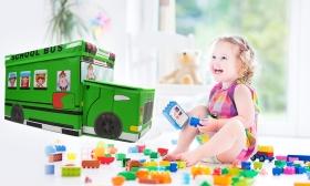 5.900 Ft helyett 3.990 Ft: Busz alakú tároló doboz gyermekeknek választható színben