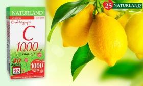 1.390 Ft helyett 895 Ft: 1000 mg C-vitamin tabletta 40 db-os, a Naturland-tól
