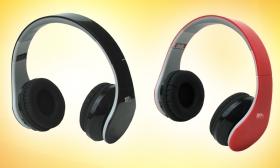 12.990 Ft helyett 7.990 Ft: Összehajtható bluetooth fejhallgató, fekete vagy piros színben, a Marketinnova-tól