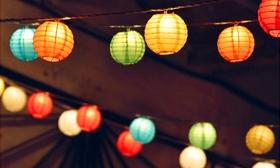 3.890 Ft helyett 2.290 Ft: A kerti partyk fénypontja: napelemes, LED-es lampionfüzér