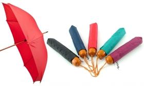 1.690 Ft helyett 990 Ft: Összecsukható mechanikus esernyő egyszínű és mintás változatban