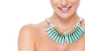 1.990 Ft helyett 1.190 Ft: Carol nyári női nyaklánc ovális színes díszekkel választható színekben