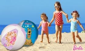 899 Ft helyett 690 Ft: 45 cm-es Barbie-s vagy Scooby-Doo-s strandlabda