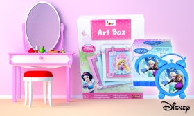 Disney Jégvarázs Elsa és Anna ébresztőóra vagy Disney hercegnők galériája művészdoboz 17%-41% kedvezménnyel