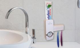 2.490 Ft helyett 1.490 Ft: Automata fogkrémadagoló fogkefetartóval