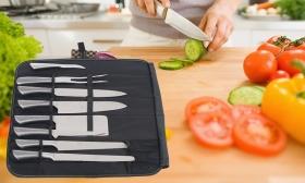 56.690 Ft helyett 12.990 Ft: Professzionális 9 részes Müller Cuisine Masterline késkészlet táskában, ingyenes házhozszállítással