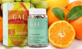 3.390 Ft helyett 2.790 Ft: 90 db GAL C-vitamin komplex kapszula szőlőmag- és héjkivonattal, bioflavonoiddal
