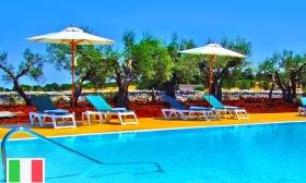 Nyaralj az olasz csizma sarkában! 3, 4, 5 vagy 6 nap 2 fő részére a Victor Country Hotelben félpanzióval, medence használattal, közel a tengerhez 50% kedvezménnyel