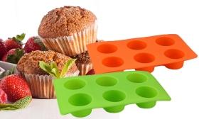 1.400 Ft helyett 790 Ft: Szilikon muffin sütőforma 6 db muffin sütésére