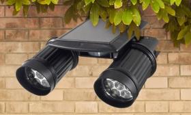 15.690 Ft helyett 6.990 Ft: Dupla napelemes kültéri LED lámpa