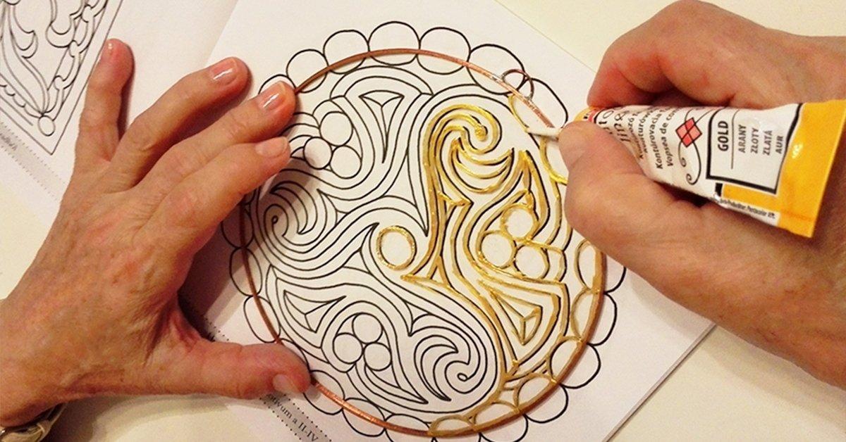 Üveg mandalafestő tanfolyam