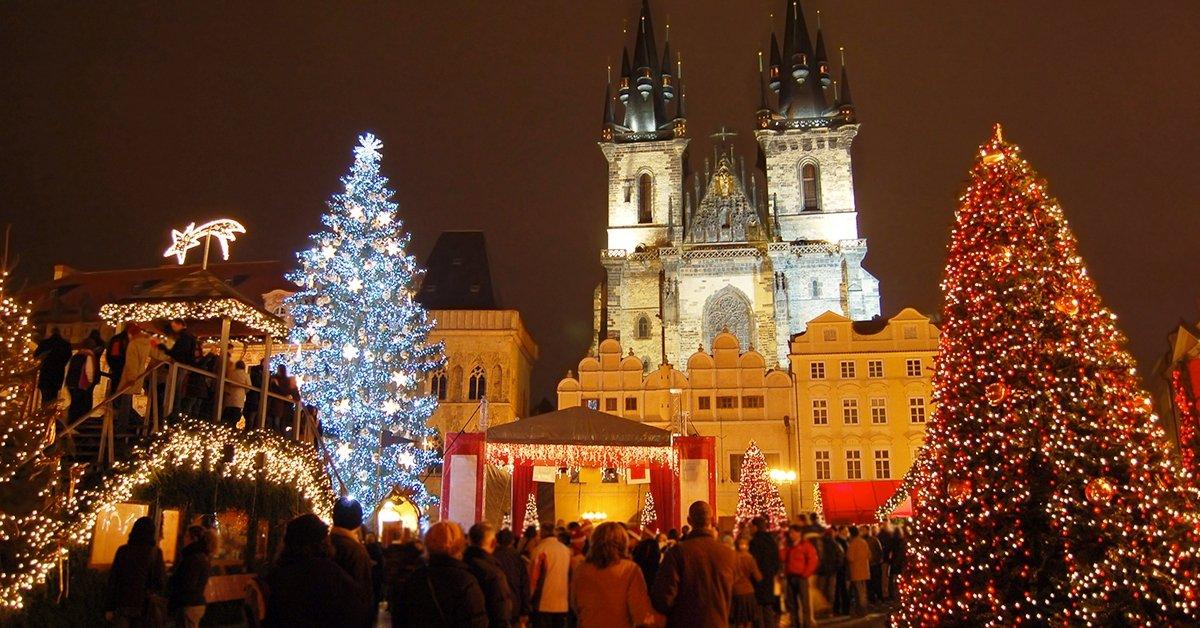 Advent Prágában busszal