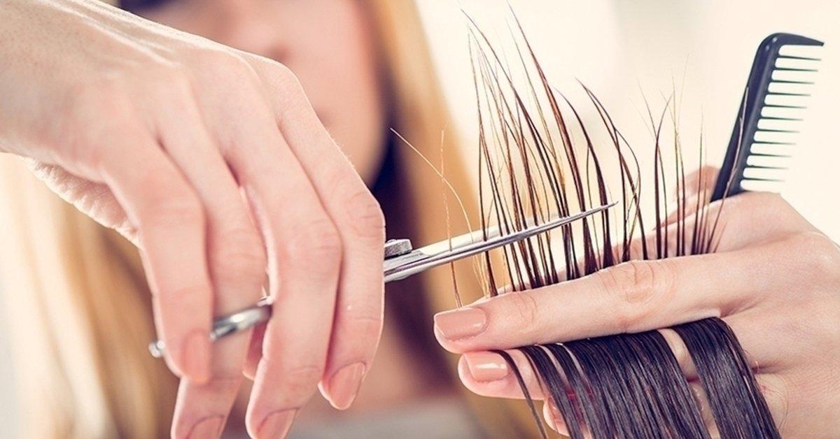 Női hajvágás mosással