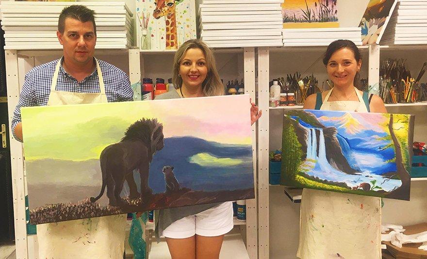 Különleges hétfők és keddek különleges környezetben: élményfestés instruktorral, saját kép vagy fotó alapján, festőtudás nélkül