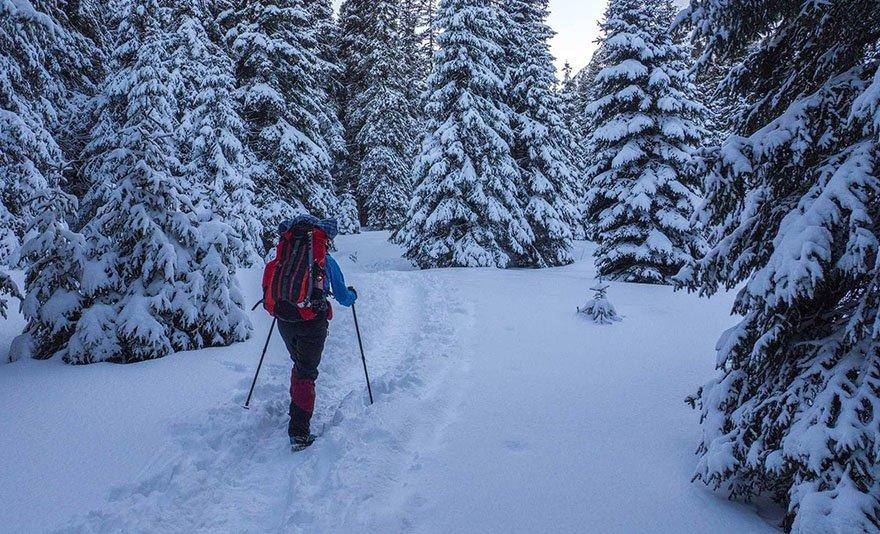 Hótalpazás a Déli-Kárpátok négy hegységében: 4 napos kisbuszos utazás szállással, reggelivel és meleg vacsorával, valamint kalandos túrákkal sítalpbérléssel Erdélyben – 1 fő részére